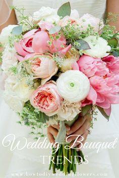 BOUQUET WEDDING TRENDS! DIY Flower wedding trends! #BOUQUET #diyflowers #weddingflowers #weddingtrends #bouquetflowers