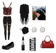 """""""Cute"""" by jadahoran123 ❤ liked on Polyvore featuring River Island, Melissa, David Yurman, MAC Cosmetics, CellPowerCases, Soaked in Luxury and LineShow"""