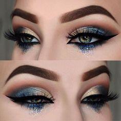 @julsxbeauty ・・・ Deep blue sea Eyes: @juviasplace Nubian 2 palette