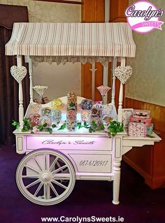 Luxury Candy Cart Hire by Carolyn's Sweets. Prices from Candy Cart Hire, Candy Table, Reception Decorations, Sweets, Luxury, Wwe, Dinner, Home Decor, Ideas