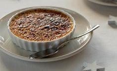 Crème brûlée met cranberry's en sinaasappel