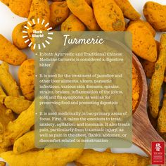 Detoxify your liver (and enjoy other #healthbenefits) by adding turmeric to your diet! #yosanuniversity #healthyliving #healthy #herbblurb #acupunctureworks #acupuncture #tcm #traditionalchinesemedicine