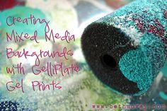 Mixed media art tutorial: creating backgrounds using gel plate prints by Beth Morey <3 #mixedmedia #gelliplate