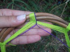 ¡Cómo hacer un atrapasueños-mandala! - Taringa! Weaving Projects, Diy Craft Projects, Diy Home Crafts, Crafts To Make, Dream Catcher Mandala, Gods Eye, Do It Yourself Crafts, Doily Patterns, Boho Diy