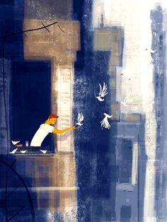 Birdy by Pascal Campion Pascal Campion, Traditional Paintings, Simple Art, American Artists, Digital Illustration, Illustration Styles, Illustrations Posters, Fantasy Art, Cool Art
