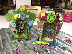 Ideas with Crafty Chica Shrine Die Cuts Diy Paper, Paper Crafts, Sizzix Dies, Shots Ideas, Paper Book, Program Design, Die Cutting, Craft Tutorials, Sugar Skull