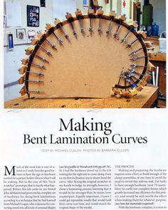 Making Bent Lamination Curves - Bending Wood