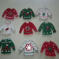 roommom27: Ugly Sweater Ornaments - Day 5 of the Twelve Days ...