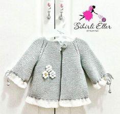 "Diy Crafts - Y [ ""Knitted baby cardigan Crochet Dress Girl, Crochet Baby Cardigan, Baby Girl Crochet, Crochet Baby Clothes, Knit Cardigan, Baby Sweater Patterns, Baby Knitting Patterns, Baby Patterns, Baby Girl Jackets"