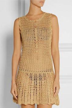 Crochet Beach Dress Crochet Maxi Dress C - Diy Crafts Crochet Beach Dress, Crochet Summer Dresses, Black Crochet Dress, Crochet Skirts, Crochet Blouse, Crochet Clothes, Knit Dress, Knit Crochet, Crochet Pattern