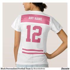 Blush Personalized Football Team