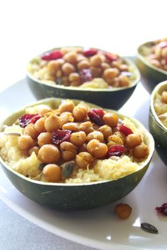 A healthy, easy gem squash recipe, these Couscous Stuffed Gem Squash With Roasted Chickpeas are incredibly delicious and they look gorgeous on your table! Healthy Side Dishes, Veggie Dishes, Side Dish Recipes, Gem Squash, Easy Holiday Recipes, Vegetarian Recipes, Healthy Recipes, Squash Recipe, Daniel Fast