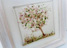 cherry tree fused glass