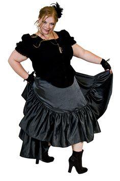 Steampunk Skirt Plus sized with Asymetrical Hem Grey Silver-3x-5x Custom to your size