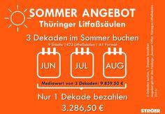 Litfaßsäulen: Sommerangebot für Thüringen. Mehr Infos: http://www.stroeer-direkt.de/nc/erfurt-16051000/99027/werbemedien/aktuelle-angebote.html#angebot72