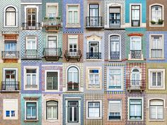 "Portuguese photographer André Gonçalves started out taking snapshots of colorful windows in his native Évora; his ""Windows of the World"" project has since grown—and gone viral. Gonçalves spoke to Conde Nast Traveler about the windows that inspire. Spain And Portugal, Portugal Travel, Portugal Tourism, Portugal Trip, The Places Youll Go, Places To Visit, Travel Around The World, Around The Worlds, Goncalves"