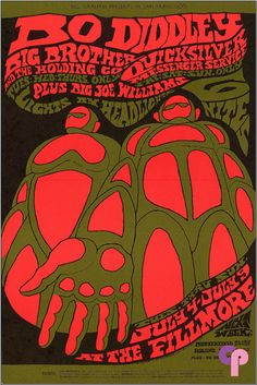 By Bonnie MacLean, 1967, Bo Diddley,  Big Brother and the Holding Company,  Quicksilver Messenger Service, Big Joe Williams.