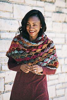 Denver Sunset Shawl - free crochet pattern by Tamara Kelly for I Like Crochet