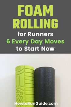 Why is foam rolling for runners so important? Plus 6 crucial foam rolling moves every runner needs to do regularly. Runners Knee Pain, Stretches For Runners, Marathon Tips, Marathon Training, Half Foam Roller, Foam Rolling For Runners, Running Training Plan, Running Humor, Benefits Of Foam Rolling