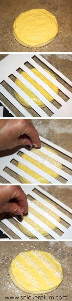Easy Sugar Cookie Sprinkle Pattern Tutorial- Snickerplum