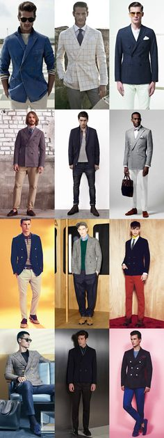 Men's Double-Breasted Blazer Lookbook