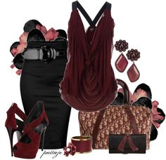 """Blackberry Wine"" by rockreborn ❤ liked on Polyvore..those shoes!"