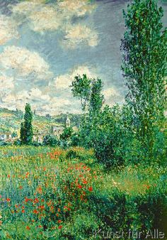 Claude Monet - SAN/2897/D Path through the Poppies, Ile Saint-Martin, Vetheuil, 1880