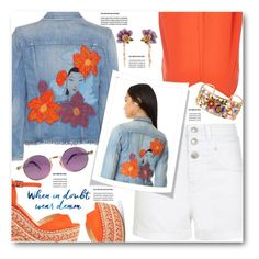 """""""When in Doubt, Wear Denim!"""" by brendariley-1 ❤ liked on Polyvore featuring Schutz, Citizens of Humanity, River Island, Les Néréides and Jean-Paul Gaultier"""