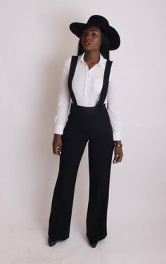 Beyond B Tall Clothing for Women Suspenders Outfit, Suspenders For Women, Pants For Women, Clothes For Women, Pants With Suspenders, Pants Outfit, Classy Outfits, Chic Outfits, Fashion Outfits