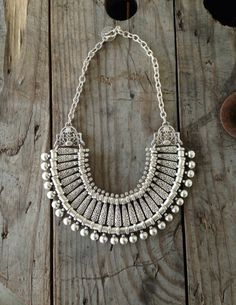 This necklace will fit you like a bib necklace….right on the collar bones. It has a Turkish coin and hook for the closure. This necklace will not tarnish and is nickel and lead free.Made in turkey