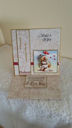 Mylo Husband easel card