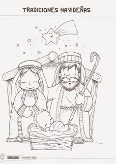 Nativity Coloring Pages, Christmas Coloring Pages, Christmas Colors, Christmas 2019, Christmas Activities, Christmas Crafts, Bible Verse Coloring Page, Spanish Lessons For Kids, Nursery Crafts