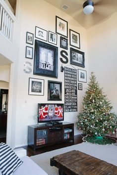 Wall Behind Tv on Pinterest | Tv Gallery Walls, Hide Wires ...
