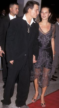 Johnny Depp and model Kate Moss