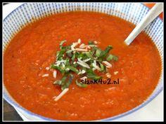 Tomaten-paprikasoep - Slank4u2 Metabolic Balance, Lchf, Keto, Soup Recipes, Healthy Recipes, Healthy Food, Spices, Yummy Food, Ethnic Recipes