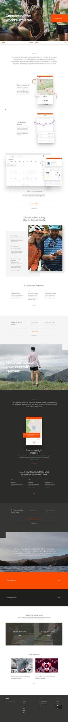 Strava Homepage by Dave Soderberg