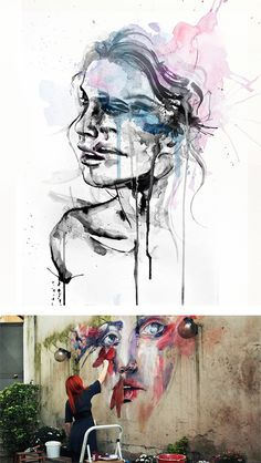 Paintings by Silvia Pelissero. Just amazing! She looks as if shes lost and crying.