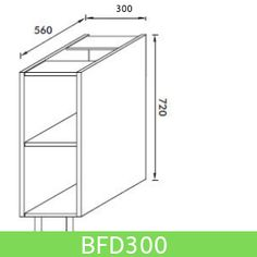Base Unit 300mm (Full Height Door)