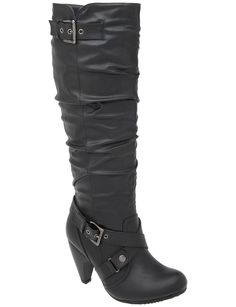 Boots- Lane Bryant....... I have these and they are soooooo comfy and doesn't hurt my feet or legs either...The heel isn't high,so you don't have to worry about breaking your neck...lol.