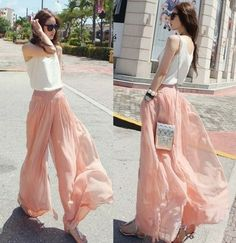 These pink pants are flowy clothing at its finest. #comfort #easytowear