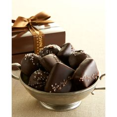John Kelly Chocolates Peanut Butter & Caramel Cluster Tower ($36) ❤ liked on Polyvore