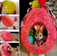 DIY Basket For Easter Made With Balloons