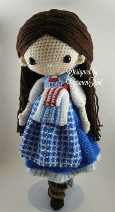 Belle-French Village- Amigurumi Doll Crochet Pattern PDF by CarmenRent on Etsy Knitted Dolls, Crochet Dolls, Crochet Yarn, Crochet Cardigan, Doll Patterns, Knitting Patterns, Crochet Patterns, Knitting Projects, Crochet Projects