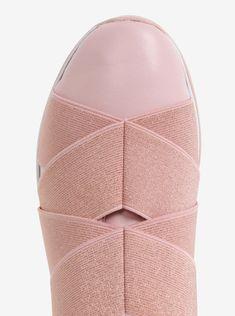 Růžové dámské kožené slip on Ted Baker Queane Ted Baker, Fashion Backpack, Slip On