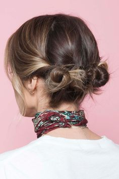 How To Style L.A.'s Most Popular Haircut 3 Ways In 3 Days  #refinery29  http://www.refinery29.com/anh-co-tran-layered-long-bob#slide-25  And, you're done! Here is the view of your chic mini-buns from the back...