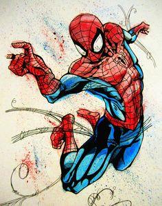 Web-Slinger Spider-Man Art Print