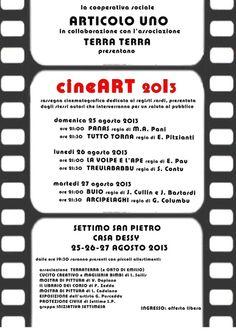 CINEART 2013 – SETTIMO SAN PIETRO – AUGUST 25 TO 27
