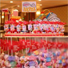 Candy Taffy Bat Mitzvah Escort Seating Cards {Westminster Hotel NJ, Ivan Piedra Photography} - mazelmoments.com