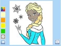 Disney Elsa Drawing Game For Childrens ,Disney Princess ANNA Queen ELSA ...