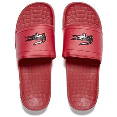 ecebb052ec9571 Lacoste Men s Frasier Slide Sandals - Red Black (2.240 RUB) ❤ liked on